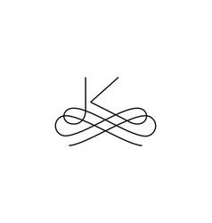 Linear monogram symbol logo premium letter vector