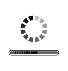loading grey icon vector image