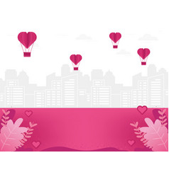 love background with cityscape vector image