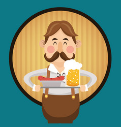 man beer oktoberfest design vector image