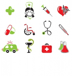 Medical set vector