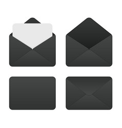 Mockup set black envelopes vector
