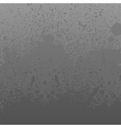 Monochrome grey dirty grunge splashes background vector image