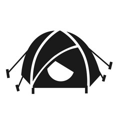 Mountain climb tent icon simple style vector