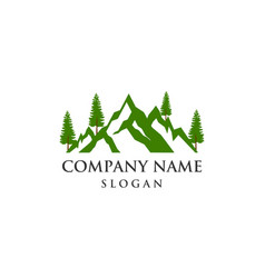 Mountain tree logo vector