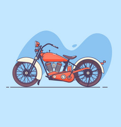 old vintage motorcycle of red vector image vector image