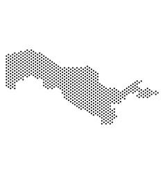 Pixel uzbekistan map vector
