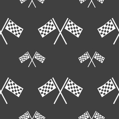 Race Flag Finish icon sign Seamless pattern on a vector image