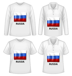 Russia shirts vector image
