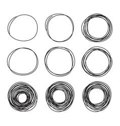 scribble sketch pencil circles vector image