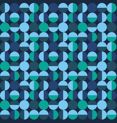 seamless geometric pattern with circles vector image