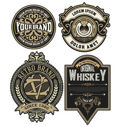 set 4 labels or badges for packing vector image