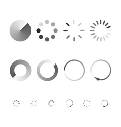 Set of icons showing the load vector image