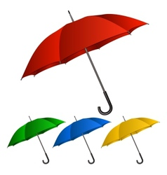 Set of umbrellas on white background vector
