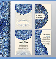 set of vintage invitation and background design vector image