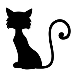Sill furry cat vector