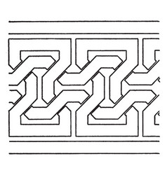 Simple moorish interlacement band is a antic vector