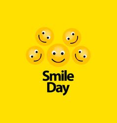 Smile day template design vector