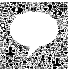 Social media talk bubble isolated vector image