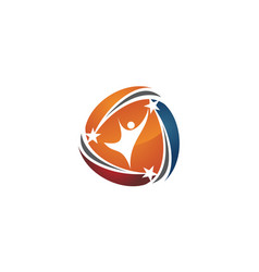 Success business logo design template vector