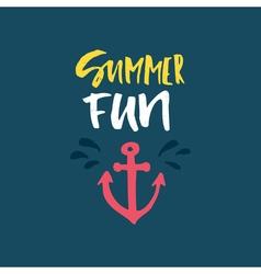 Summer Fun Lettering vector