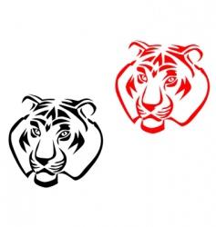 tiger mascots vector image