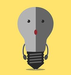 Turned off lightbulb character vector image