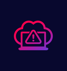warning icon with cloud vector image