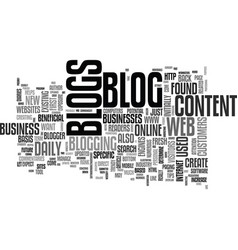 Web blogs defined explained and understood text vector