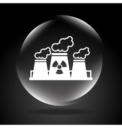 atomic plant vector image