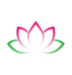 calligraphic lotus blossom yoga symbol simple vector image vector image