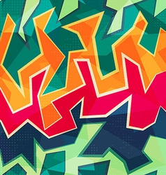 colored graffiti seamless pattern vector image vector image