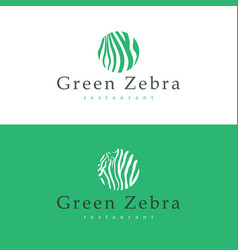 design business card restaurant green zebra vector image