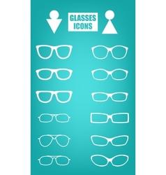 glasses set vector image vector image