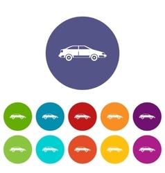 Car set icons vector image