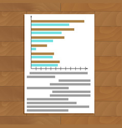 chart and graphic vector image vector image