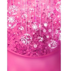Christmas Glittering background card EPS 10 vector image vector image