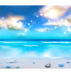 evening seascape with clouds vector image