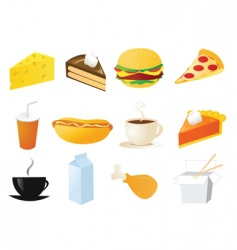 foods and snacks vector image