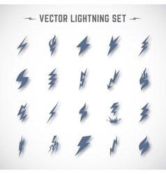 Lightning or Blizzard Icon Set in Material vector image