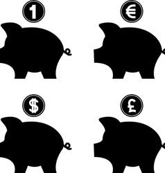 piggy bank vector image