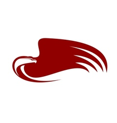 Powerful eagle vector image
