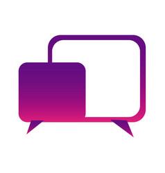 purple square chat bubbles icon vector image