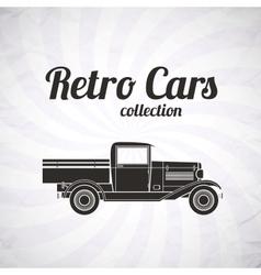 Retro pickup truck car vintage collection vector