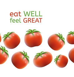 Seamless Tomato Background vector image vector image