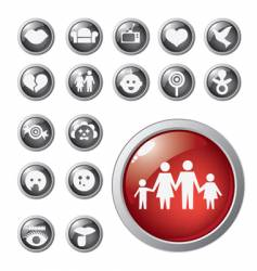 shiny icons vector image