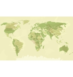 World map grunge style vector image