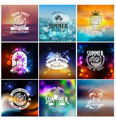 Designs for summer beach party vector
