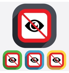 Do not look Eye sign icon Publish content vector image vector image