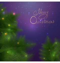 Festive Christmas card with branches vector image